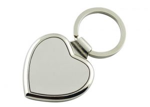 Retractable Metal key rings blank metal keychains