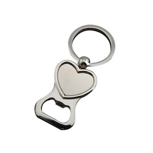 Heart shape keychain bottle opener