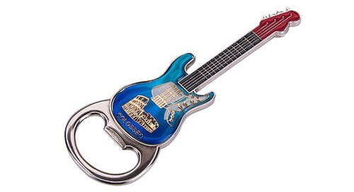 Guitar fridge magnet bottle opener