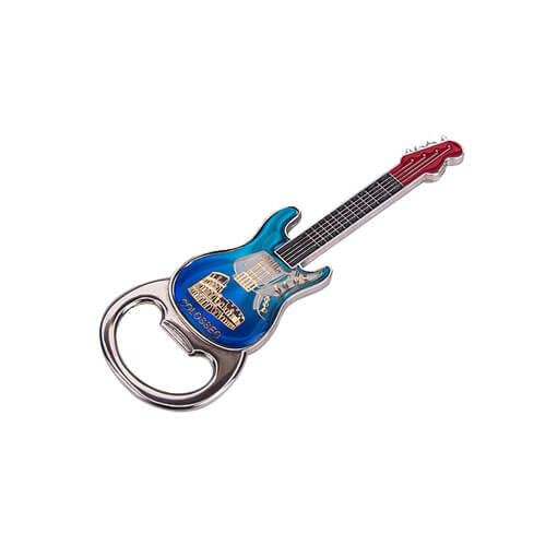 Guitar fridge magnet bottle opener