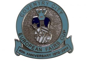 European Fairs Cup cloisonne lapel pins