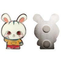 rabbit animal mascot lapel pins