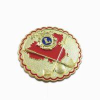 Lacrosse sports lion clubs lapel pins hat pins
