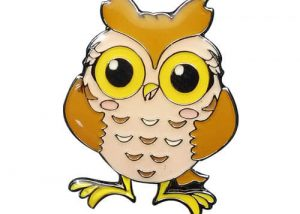 Personalized night owl trading lapel pins