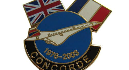 Concorde plane corporate flags badges