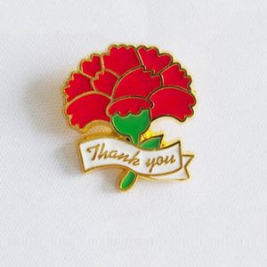 thank you flower lapel pins