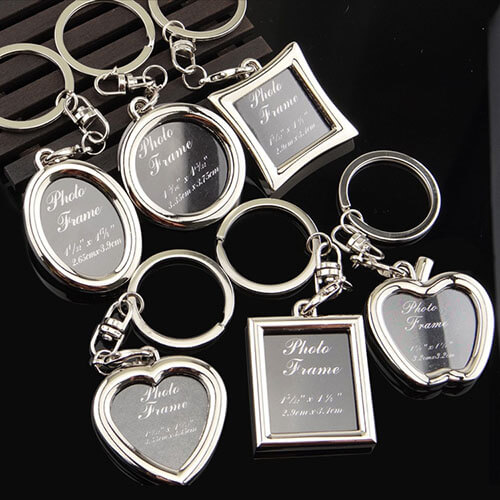 customized photo frame keychains