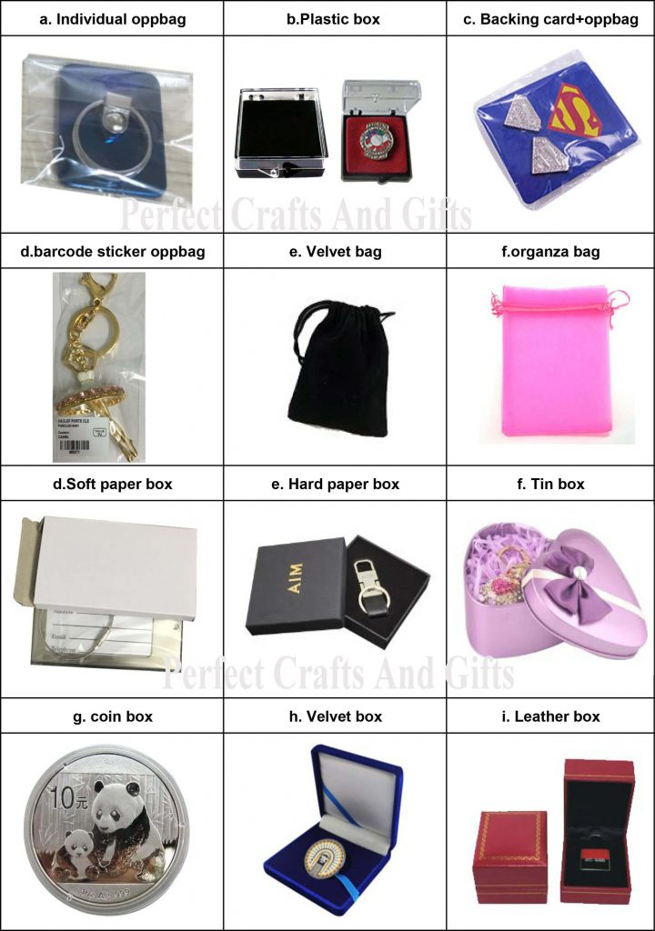 Lapel pins packages option