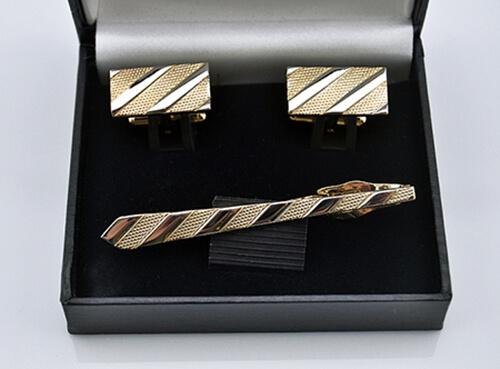 Fashion mens tie clip and cufflinks set Suit