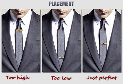 Stylish men's tie bars tie holder