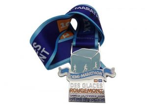 Demi-marathon plaque running award medals
