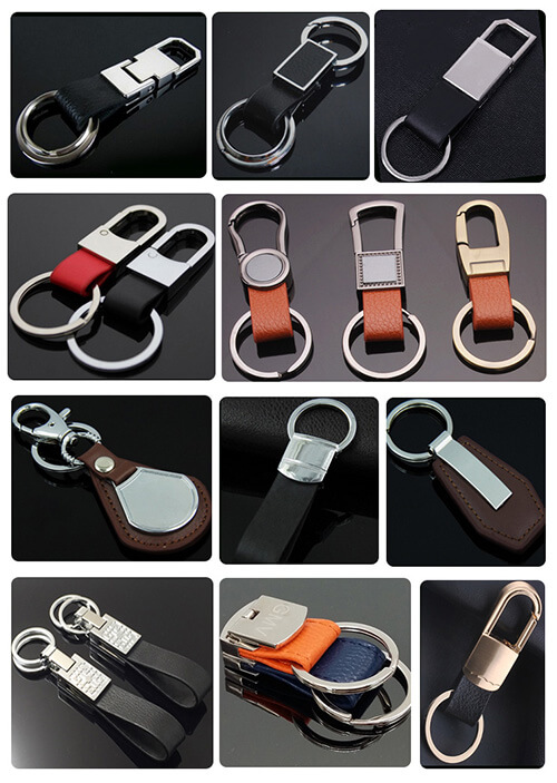 Genuine leather keychain for men