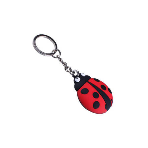 soft PVC beetles key chains key fob key tag