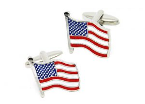 High quality american flag cufflinks