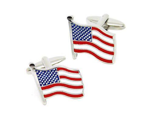 High quality american flag cufflinks