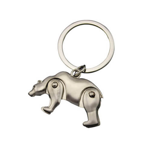 Christian bear keychains custom mascot keyring