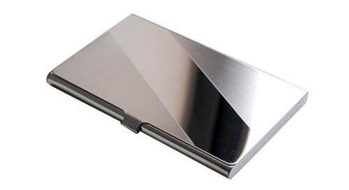 stainless steel metal card case holder
