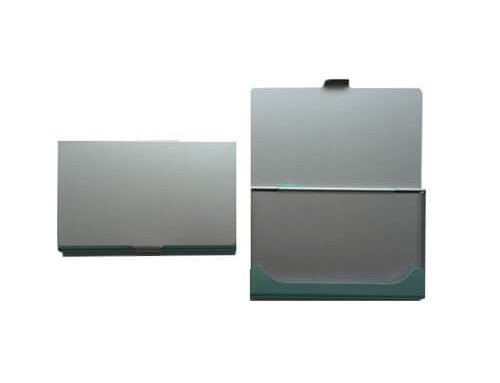 Cheap aluminum business card holder folder