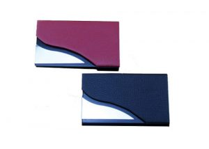 Fashion PU leather card display holder