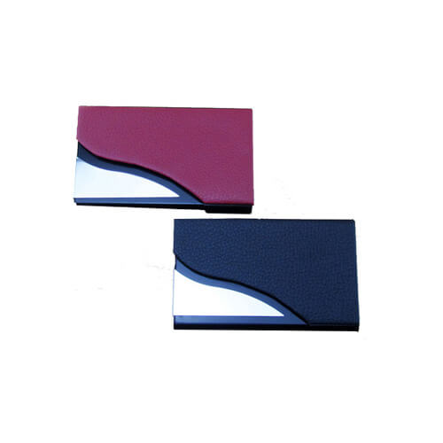 Fashion PU leather card display holder