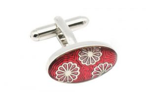 Luxury flower cloisonne cufflinks