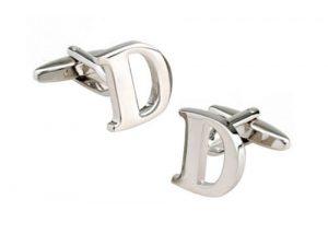 Alphabet Letter D mens cufflink