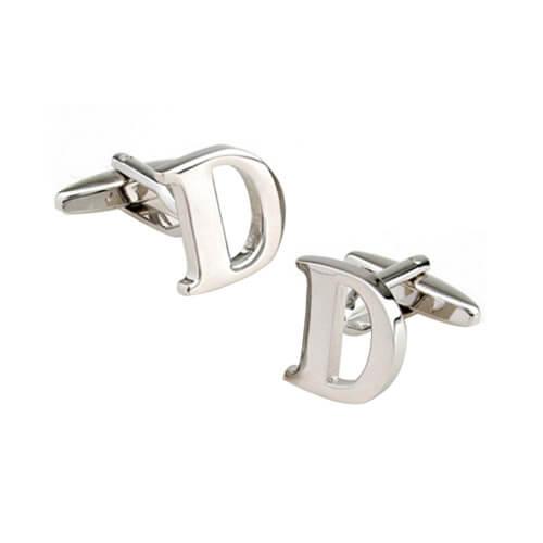 alphabet letter D cufflinks