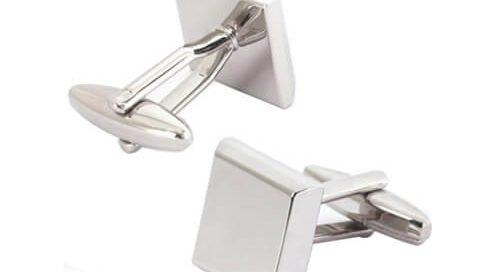 Blank silver cufflink designer