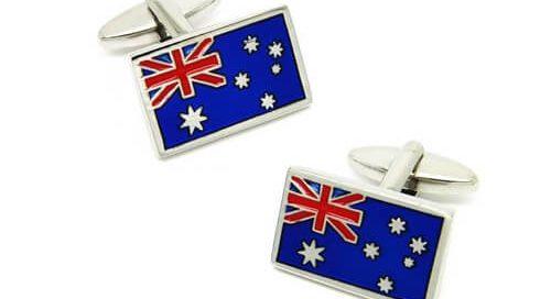 Jewelry type Australia flag cufflinks