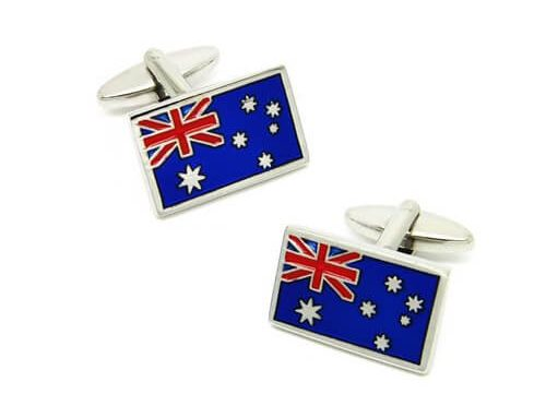 Jewelry type Australia flag cufflinks
