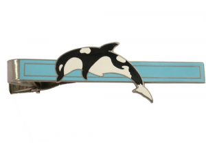 Custom dolphin tie bar