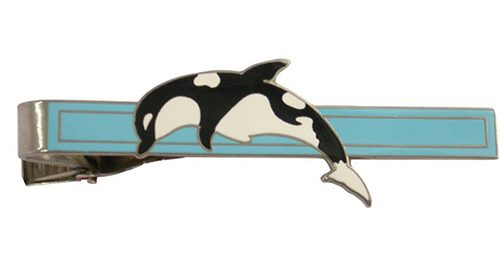 Custom dolphin tie bar