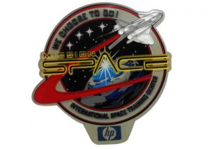 Space Mission transparent PVC patches apparel accessories