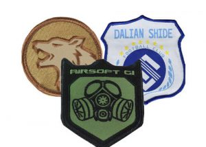 Airsport shield woven patches