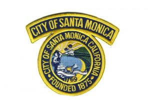 Santa Monica city founded memorial embroidery patches