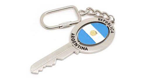 Argentina flag rotary keychain key access