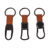 Genuine leather keychain men