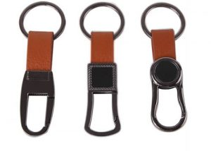Genuine leather keychain men