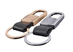 Genuine leather keychain key fob key holder