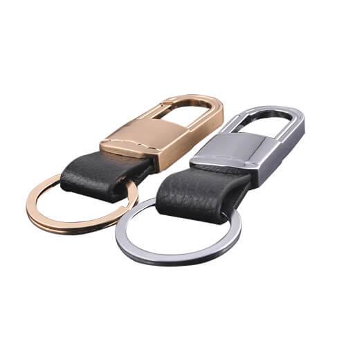 Genuine leather keychain key fob key holder
