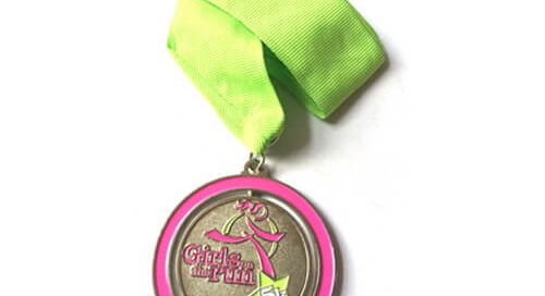 Personalized Girls' Running trophies medal