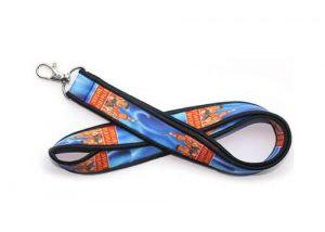 customized neoprene badge holder lanyards