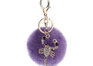 Jewelry Scorpion pom pom keyring bag hanger