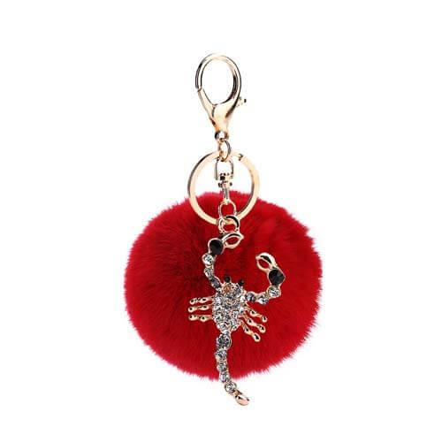 Jewelry Scorpion pom pom keyring bag hanger