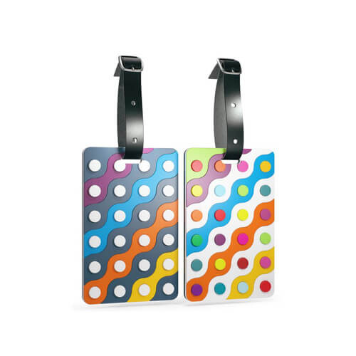 Rubberized luggage tag holders