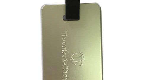 Travel club engraved luggage labels