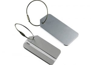 personalized metal luggage tags