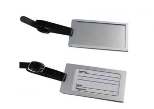 travel suitcase stainless steel tag