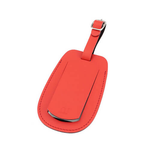 cheap PU leather travel suitcase tags