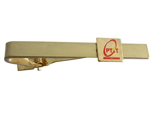 Unique gold tie bar